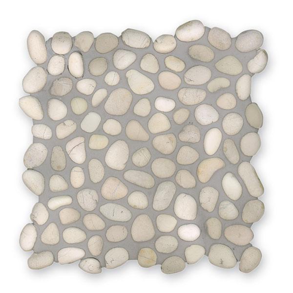 Bärwolf Pebble white BA-PM-0001 Kiesel Mosaik Vario 30x30 matt R10