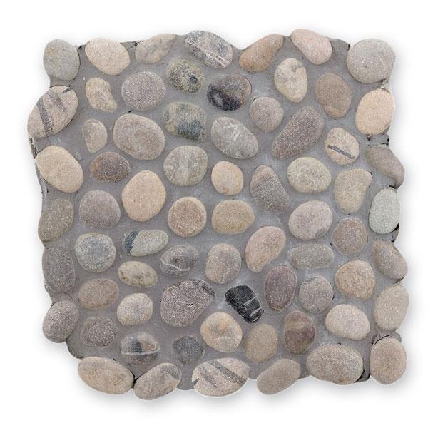 Bärwolf Pebble middle grey BA-PM-0004 Kiesel Mosaik Vario 30x30 matt R10
