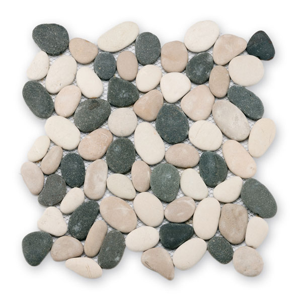 Bärwolf Pebble black spottet mix BA-PM-0006 Kiesel Mosaik Vario 30x30 matt R10