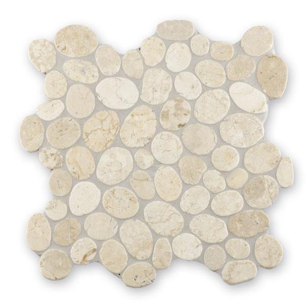 Bärwolf Pebble white BA-PMG-10004 Kiesel Mosaik Vario 30x30 matt R10