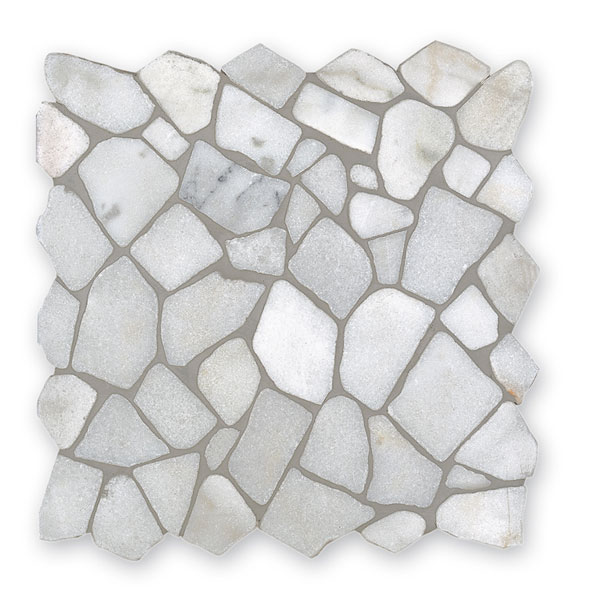 Bärwolf Crush white BA-RM-0001 Marmor Mosaik Vario 30x30 matt R10