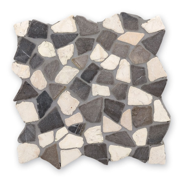 Bärwolf Crush black white BA-RM-0004 Marmor Mosaik Vario 30x30 matt R10