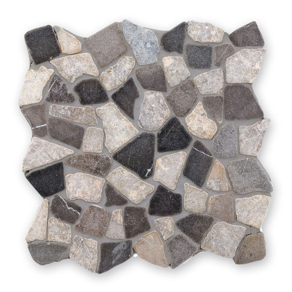Bärwolf Crush black grey BA-RM-0005 Marmor Mosaik Vario 30x30 matt R10