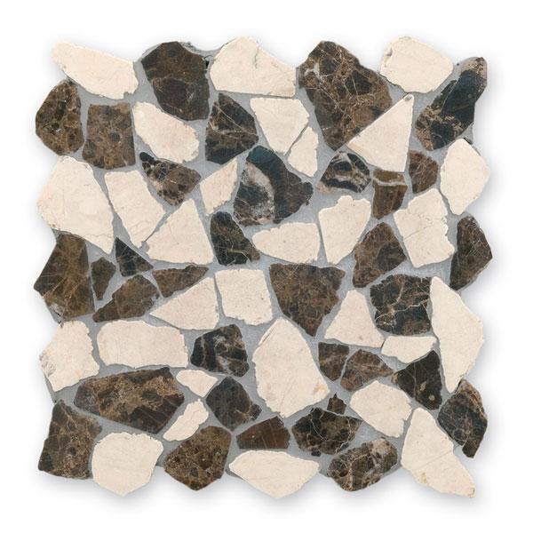 Bärwolf Crush beige empador BA-RM-0006 Marmor Mosaik Vario 30x30 matt R10