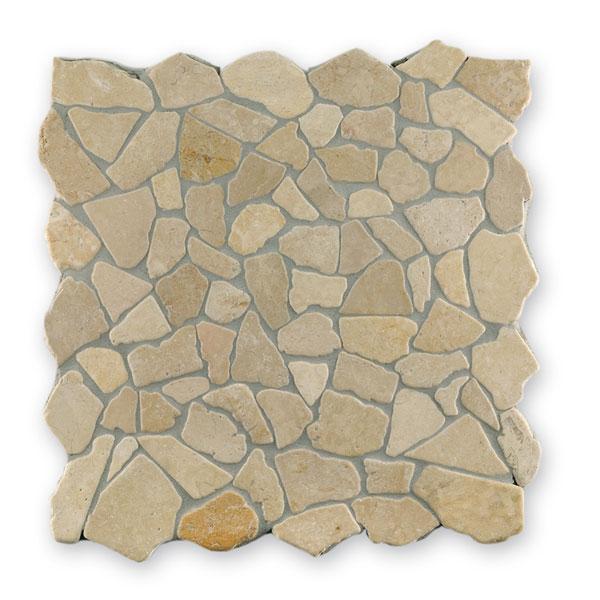 Bärwolf Crush beige BA-RM-0008 Marmor Mosaik Vario 30x30 matt R10