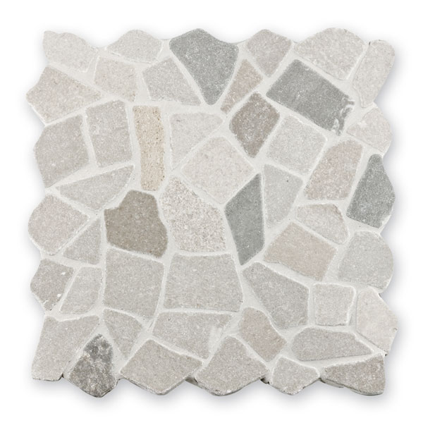 Bärwolf Crush grey BA-RM-0009 Marmor Mosaik Vario 30x30 matt R10