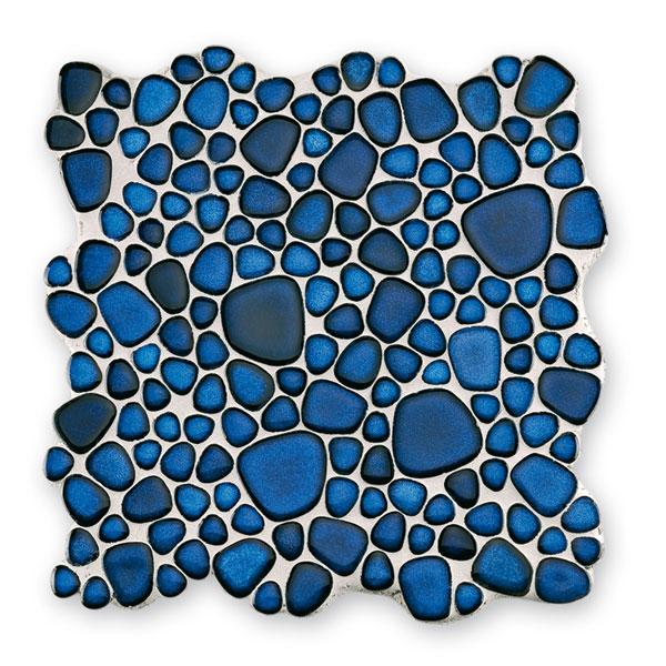 Bärwolf Pebble cobalt blue BA-Kiesel-80 Keramik Mosaik Vario 29x29 glänzend