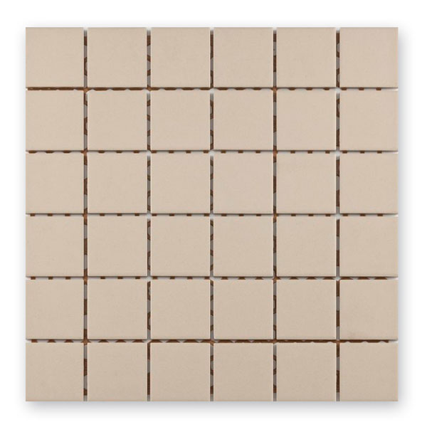 Bärwolf Grip beige BA-UG-5011 Keramik Mosaik 5x5 30x30 unglasiert/matt R10