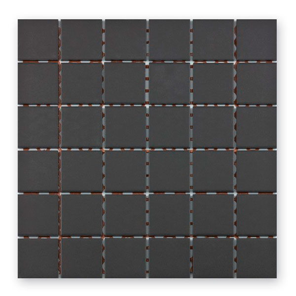 Bärwolf Grip black BA-UG-5017 Keramik Mosaik 5x5 30x30 unglasiert/matt R10