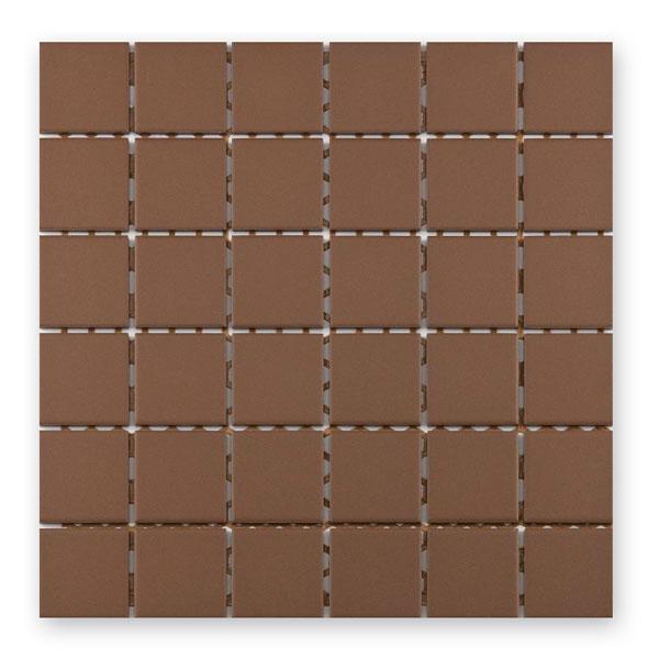 Bärwolf Grip mocca BA-UG-5018 Keramik Mosaik 5x5 30x30 unglasiert/matt R10