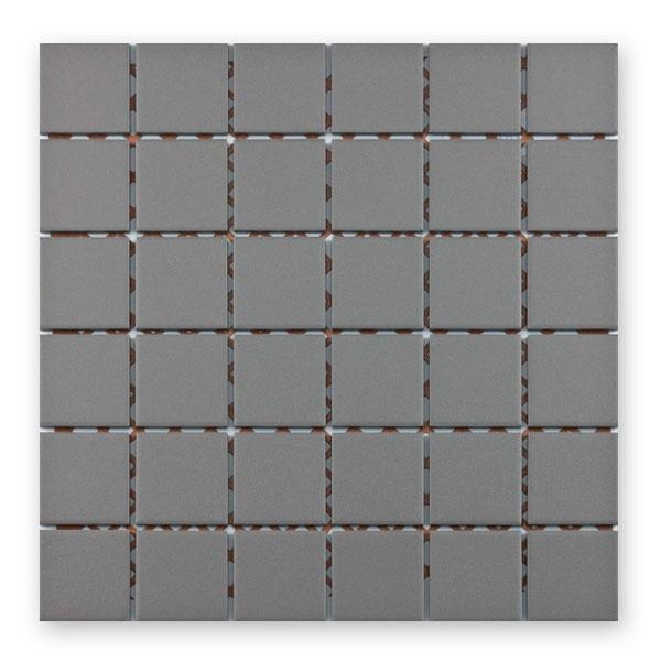 Bärwolf Grip grey BA-UG-5029 Keramik Mosaik 5x5 30x30 unglasiert/matt R10