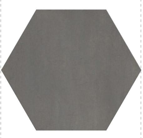 Savoia  Domus  Nero SA-S40139ESAA Bodenfliese 40x40 matt Betonoptik Hexagon