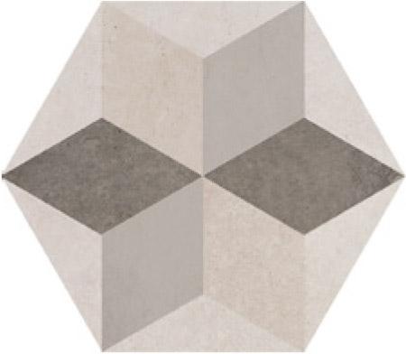 Savoia Domus  Decori Star SA-S4013STAR Bodenfliese 40x40 matt  Hexagon