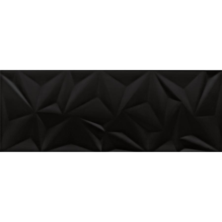 Cinque Fracture Black Wandfliese 30x80 glänzend