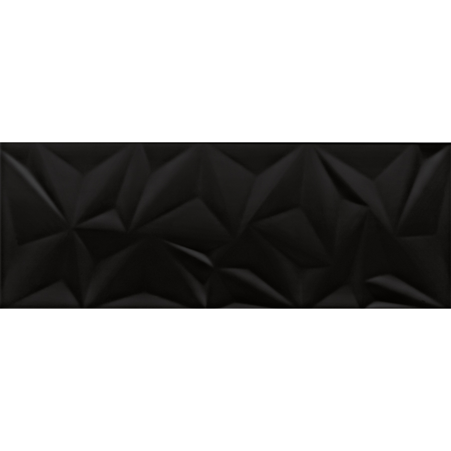 Bien Fracture Black Wandfliese 30x80 glänzend