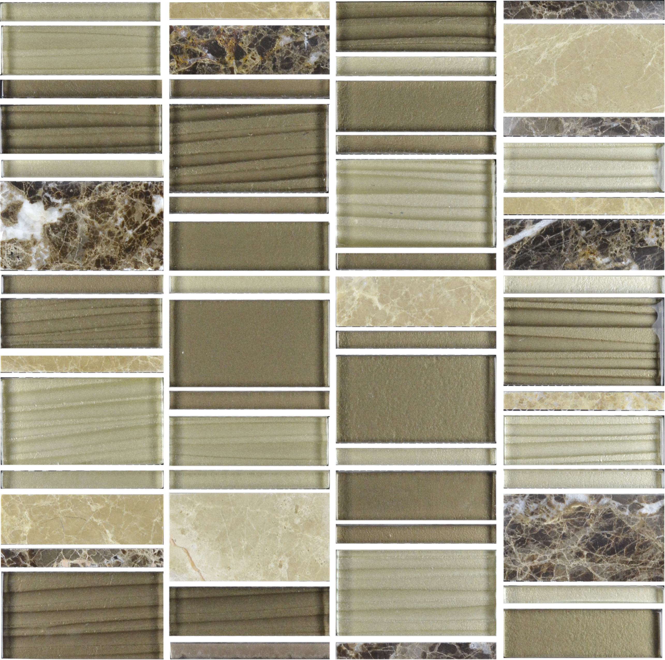 Bien Glana Braun/Beige be-PMH018 Mosaik 30x30
