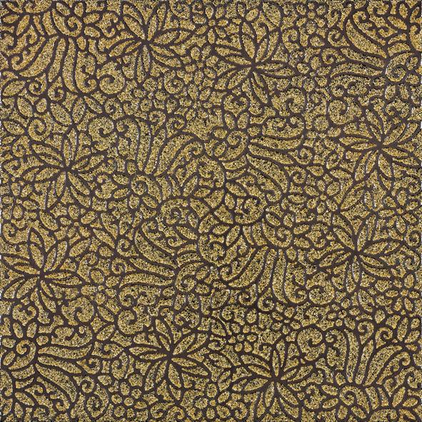 La Fabbrica Fusion Gold Glittery L653 Dekor 49x49 Lappato