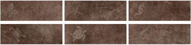 La Fabbrica Fusion Life Bronze L434 Dekor 49x16,2 Lappato 6er-Set