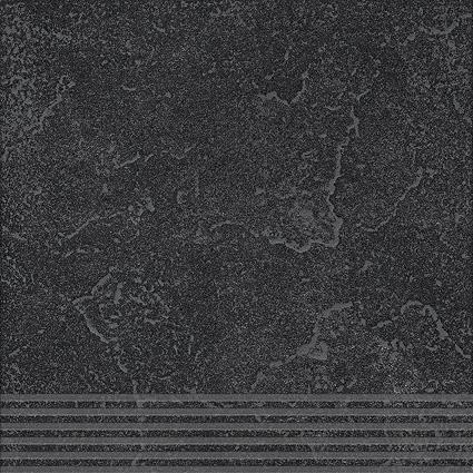 Agrob Buchtal Ancona schwarz AB-436496 Stufe 30x30 eben, vergütet R9