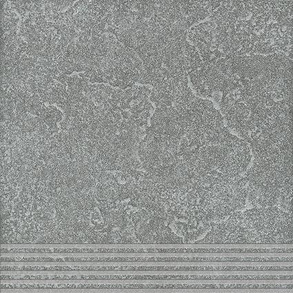 Agrob Buchtal Ancona basaltgrau AB-436497 Stufe 30x30 eben, vergütet R9