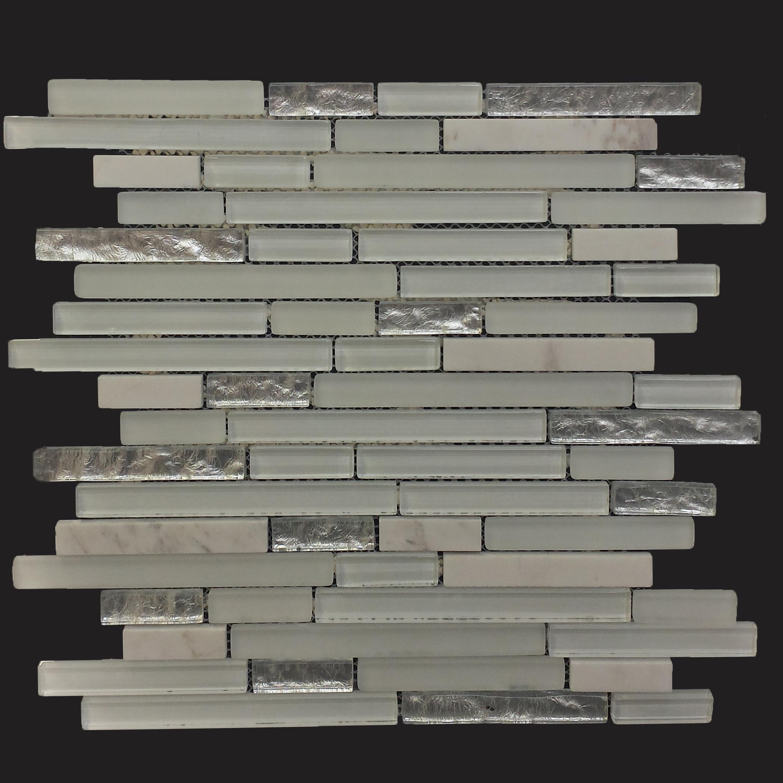Bien Glana Weiß/Silver be-PMK123 Mosaik 30x30