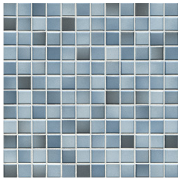 Jasba Fresh denim blue-mix JA-41206 H Mosaik 2x2 32x32 glänzend