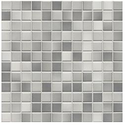 Jasba Fresh light gray-mix JA-41203 H Mosaik 2x2 32x32 glänzend