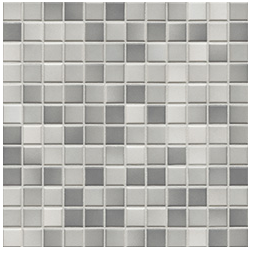 Jasba Fresh light gray-mix JA-41203 H Mosaik 2x2 32x32 glänzend