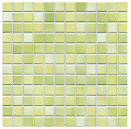 Jasba Fresh lime green-mix JA-41214 H Mosaik 2x2 32x32 glänzend