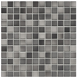 Jasba Fresh medium gray-mix JA-41204 H Mosaik 2x2 32x32 glänzend