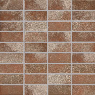 Villeroy & Boch Fire and Ice copper red VB-2411 MT10  Mosaik 3,5x7,5 30x30 matt R9 A