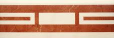Villeroy & Boch New Tradition crema-rosso VB-1771 ML34  Bordüre 10x30 glänzend