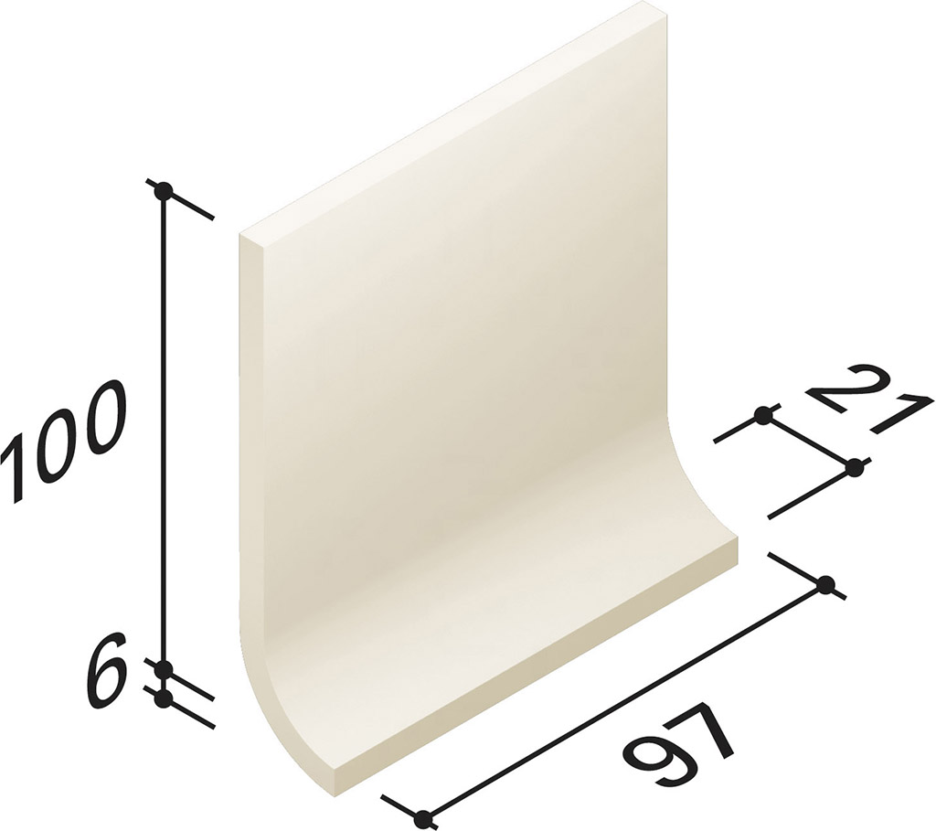 Villeroy und Boch Unit One white 2072 UT41 0 Hohlkehlsockel 10x10 matt