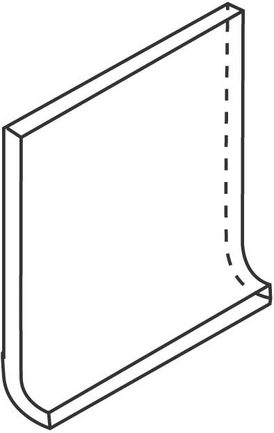 Villeroy und Boch Unit Three graphit 2072 GT50 0 Hohlkehlsockel 10x10 matt