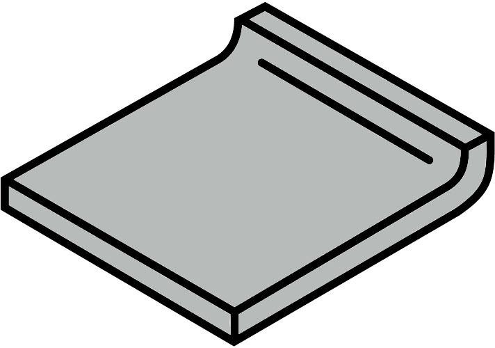 Villeroy und Boch Pro Architectura grau 25% 2772 PN81 4 Hohlkehlsockel 5x5 matt