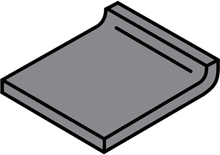 Villeroy und Boch Pro Architectura grau 50% 2772 PN82 4 Hohlkehlsockel 5x5 matt