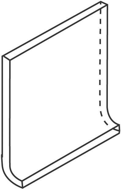 Villeroy und Boch Unit One grey 3293 UT02 0 Hohlkehlsockel 10x10 matt
