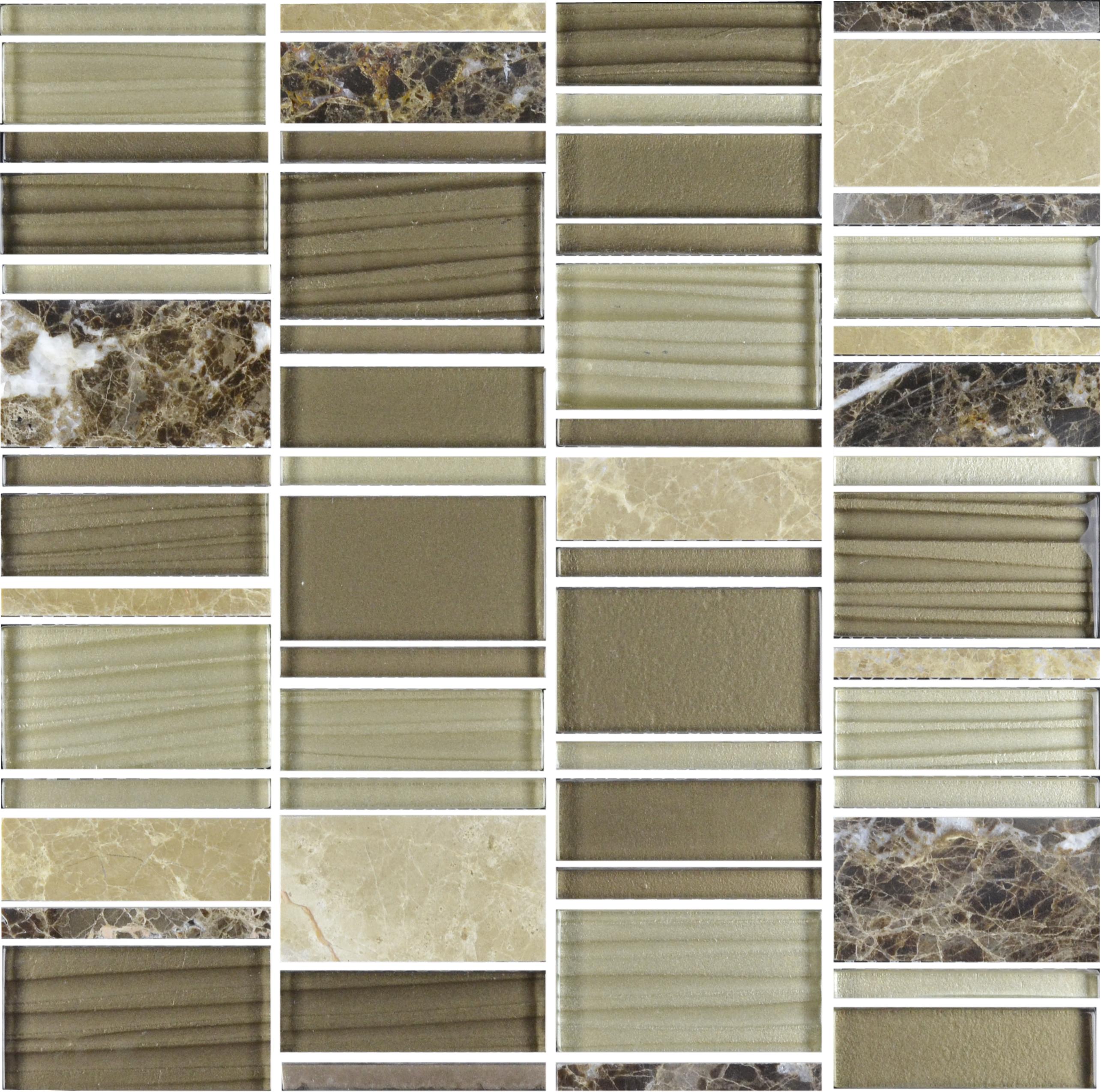 Cinque Glana Braun/Beige be-PMH018 Mosaik 30x30