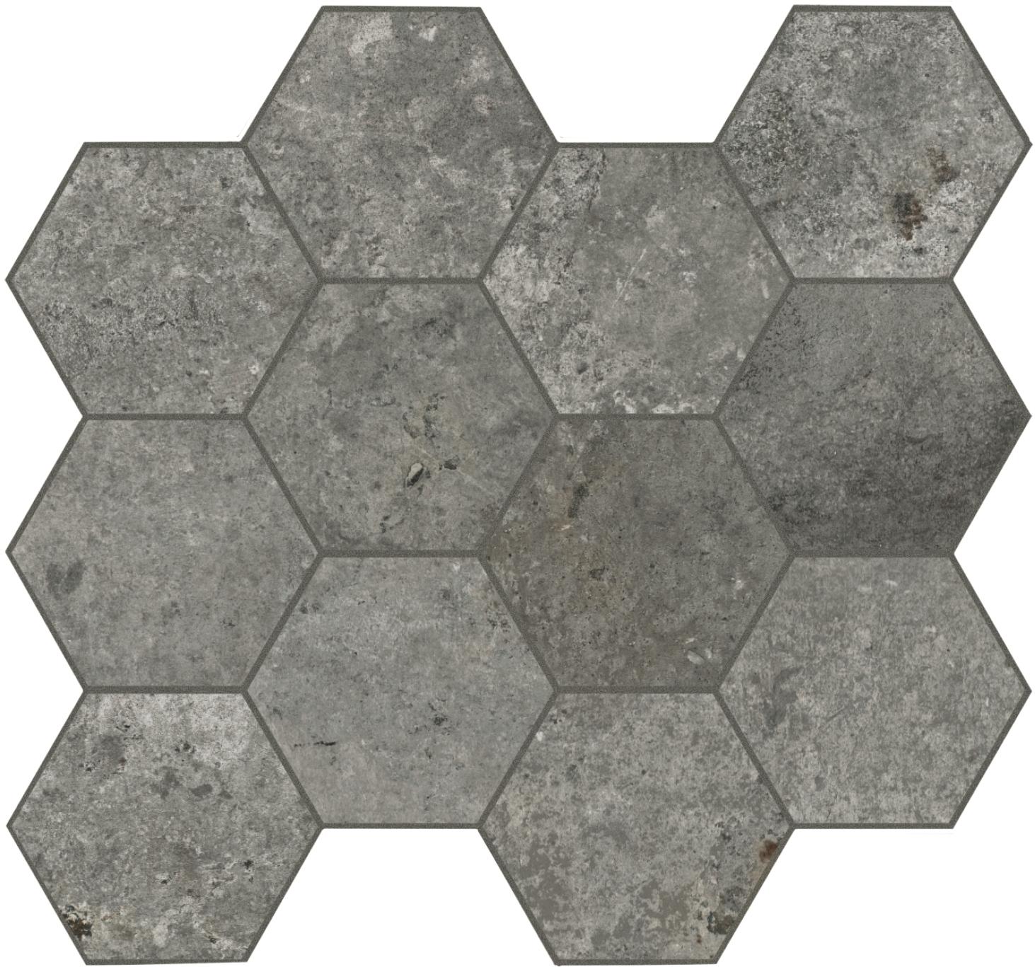 Unicom Starker DEBRIS SOOT HEXAGON UNI-0008043 Mosaik 30x34 Matt