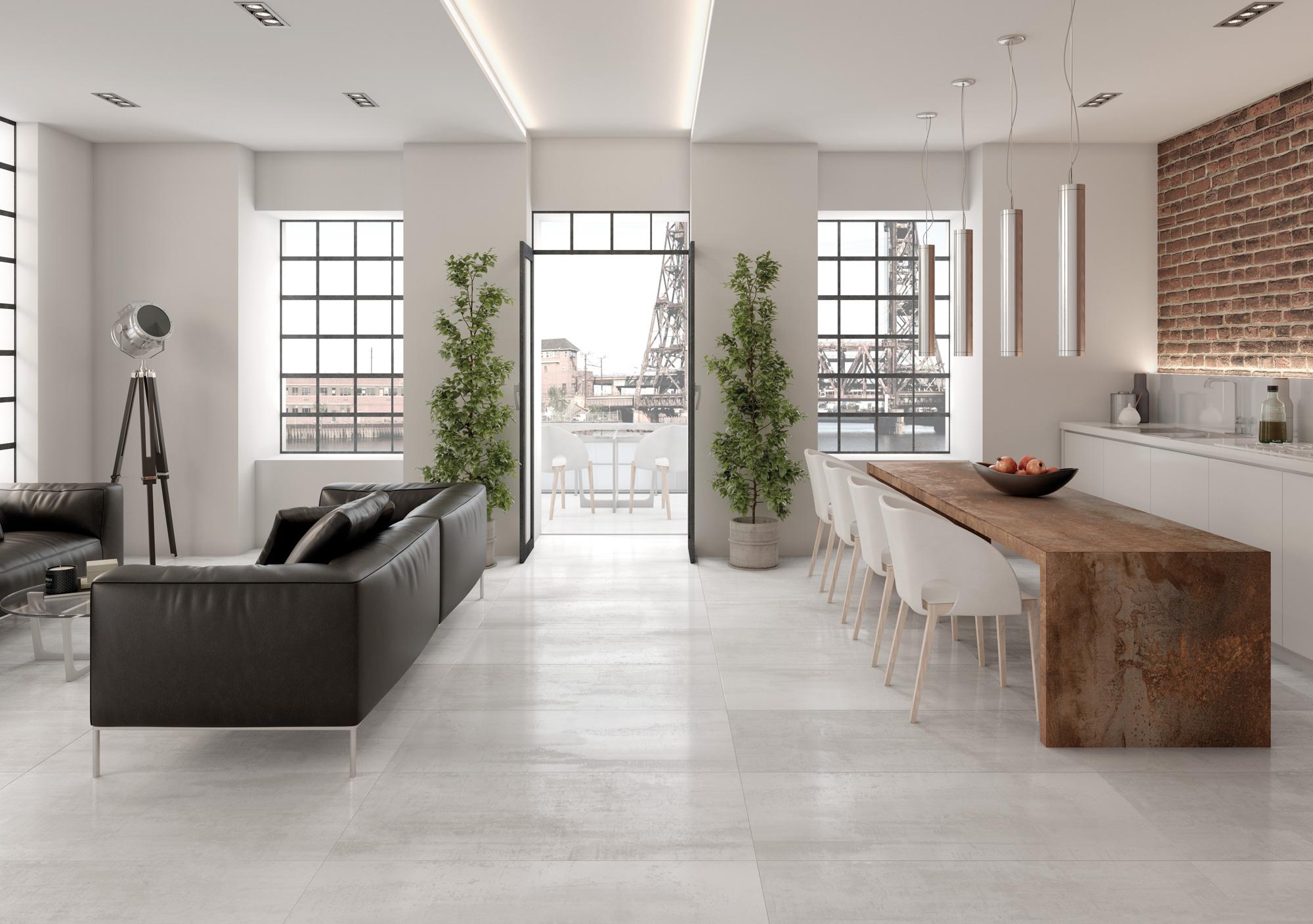 Tau Ceramica Corten Blanco 60x120 Boden/Wandfliese Glänzend
