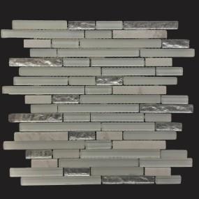 Cinque Glana Weiß/Silver be-PMK123 Mosaik 30x30