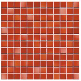 Jasba Fresh coral red-mix JA-41212 H Mosaik 2,4x2,4 / 31x31 glänzend