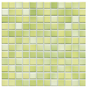 Jasba Fresh lime green-mix JA-41214 H Mosaik 2x2 32x32 glänzend