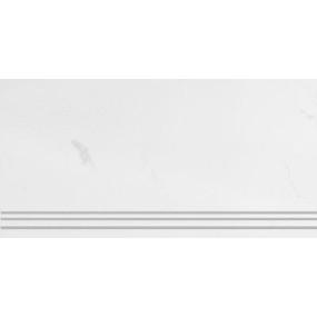 Steuler Marble weiss St-n-Y75436001 Treppenstufe links 33x73 poliert