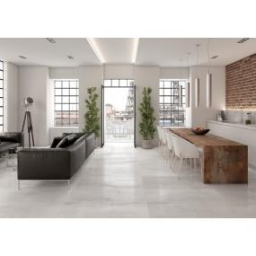TAU Ceramica Corten Boden/Wandfliese Blanco 60x120 glänzend