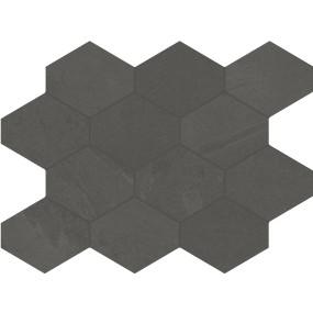 Unicom Starker BRAZILIAN SLATE Pencil Grey Hexagon UNI-0008494 Mosaik 25x34 Matt
