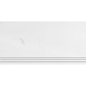 Steuler Marble weiss St-n-Y75426001 Treppenstufe links 33x75 matt