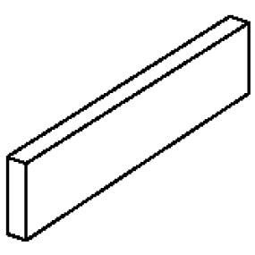 Engers Shabby Wood zementgrau EN-SHA1531 Sockel 90x7,5 Matt