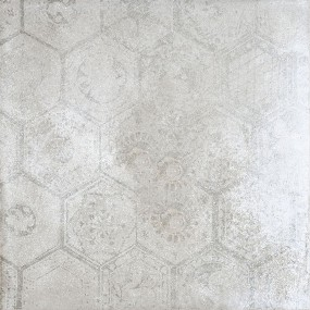Porcelaingres Soft Concrete Silver HEXAGON X606324X8 Boden-/Wandfliese 60x60 MATT