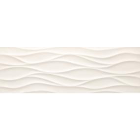 Tau Ceramica Sun brisa white Wandfliese 25x75 matt